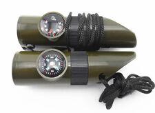 Neuf Secours d'urgence  Multi-fonction sifflet+boussole+thermomètre+lampe+loupe