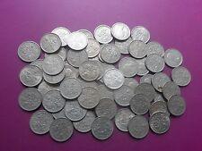 60  QUEEN ELIZABETH II SIXPENCES  COINS.1953 - 1967.