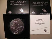 2014-P NR3 ARCHES AMERICA THE BEAUTIFUL 5oz SILVER COIN