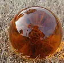 Asian Rare Natural Quartz Amber Magic Crystal Healing Ball Sphere 40mm+Stand G21