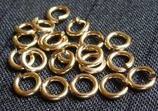 Gold filled open jump rings hard snap 4mm jewelry supplies findings