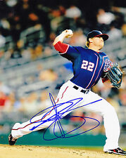 DREW STOREN   WASHINGTON NATIONALS   ACTION SIGNED 8x10
