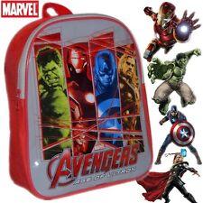 Los Vengadores para niños de escuela de niños de viaje Mochila Mochila De Iron Man Hulk # 85475