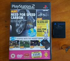 *SALE*  8mb MEMORY CARD + PLAYSTATION 2 Official Mag - UK DEMO DISC 77