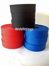 40mm Black Nylon Textured Webbing tape x 10 meters