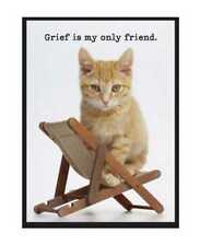 "Magnetic Poetry Amusing Magnet Grief Kitty Refrigerator Magnet 3"" x 4"" 3813"