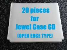 20 pieces Open Mouth Outer Plastic Sleeves for CD Jewel Cases