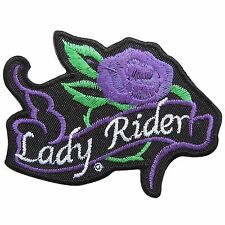 Lady Rider Purple Rose Sexy Girls Biker Motorcycles Tattoo Iron on Patches #0519