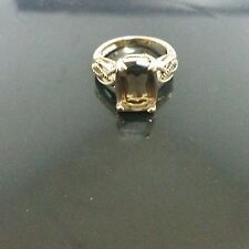 LIA SOPHIA GOLD AND GENUINE SMOKY QUARTZ RING