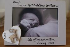 Personalised Photo Frame by Filly Folly! Daddy First Christmas Gift!