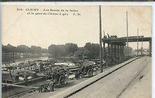 CP 92 Hauts-de-Seine - Clichy - Les Bords de la Seine et la grue Usine à Gaz