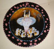 NWOT BULL DOGS Designer Plate Jennifer Garant Roscher Humorous MINT Bullerina