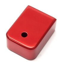 Custom RED COLOR Heavy Magazine Base Plate for Glock 9mm 40 cal 357