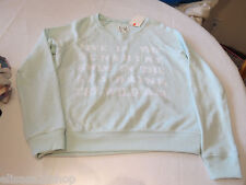 Billabong Juniors Womens light grn L long sleeve fleece shirt surf skate NWT^^
