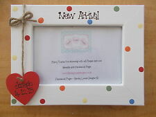 Personalised Wooden Baby Newborn Christening Photo Frame Gift QUICK POSTAGE