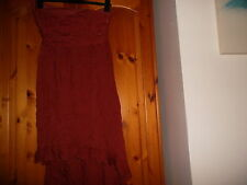 Stunning chestnut brown fishtail cocktail party dress, MISO, size 12