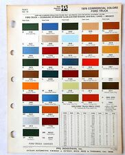 1976 FORD TRUCK PPG  COLOR PAINT CHIP CHART ALL MODELS ORIGINAL