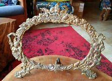 Antique Brass Frame, gilded, large, cherubs, National Brass & Iron Works
