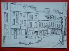 POSTCARD MAIN STREET PENCIL SKETCH BY BRIGID MAC NEELY
