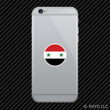 Round Syrian Flag Cell Phone Sticker Mobile Syria SYR SY