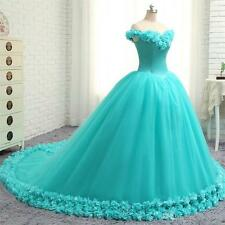 New Turquoise Formal Prom Party Pageant Quinceanera Dresses Hot Ball Gown Custom