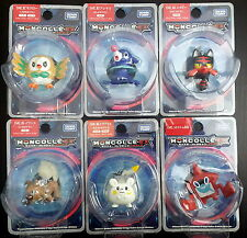 6pcs Pokemon Sun Moon Figure Rowlet Popplio Litten Rockruff Togedemaru Rotom