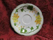 "Villeroy & Boch Geranium, Yellow & Green, No Rib: 6.25"" Saucer Only, No Cup"