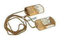 Piastrine Militari PERSONALIZZATE in Metallo con Catenella Dog Tags - Oro