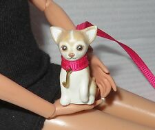 ACCESSORY PET ~ BARBIE DOLL JUICY COUTURE CHIHUAUA PUPPY DOG & LEASH FOR DIORAMA