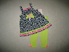 "NEW ""LIME GIRAFFE"" Capri Pants Girls Clothes 12m Spring Summer Boutique Baby"