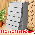 Tallboy Chest of 6 Drawer Stylish Storage Solution White Colour Timber Furniture