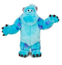 """Disney Authentic Patch Sulley Monsters Inc University BIG Plush 15"""" Gift New"""
