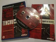 PAL SONY PLAYSTATION 2 PS2 GAME TENCHU WRATH OF HEAVEN +BOX INSTRUCTION COMPLETE