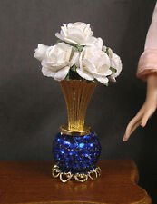VASE OF  WHITE  ROSES  for  BARBIE  ~ Patsy Mac ~ 1:6 scale ~ Handcrafted