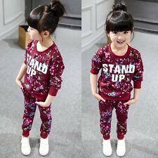 2pcs Toddler Kids Baby Boy Girls T-shirt Tops+Long Pants Outfit Clothes Set Suit