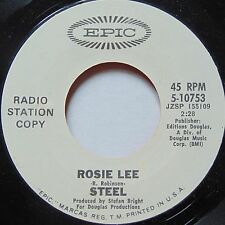STEEL: NEVER ON A MONDAY rare ROCK 45 promo EPIC dj HEAR