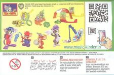 KINDER Surprise TOM & JERRY 1 edizione limitata serie completa di 8 India RARO 2013