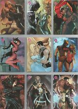 "Marvel Dangerous Divas: ""Embrace"" Set of 9 Foil Chase Cards #E1-E9"