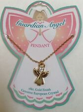 GUARDIAN ANGEL PENDANT NECKLACE Gold Finish  NEW Child