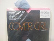 NEW Vtg COVER GIRL ULTRA-SHEER Pantyhose Nylons Stockings Average M Blue 817