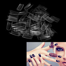500Pcs Clear Half Transparent French Acrylic UV Gel Manicure False Nail Art Tips