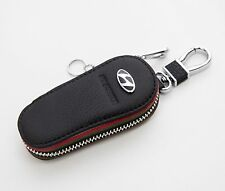Natural Leather Black Smart Folding Key Case Holder For Hyundai Elantra Touring
