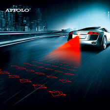 Anti Collision Laser Led Rear Fog Light Auto Brake Parking Warning Lamp HEARTS!