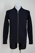 MENS G-STAR RAW ZIP CARDIGAN JUMPER CABLE KNIT 100 % COTTON NAVY SIZE S SMALL