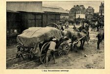 Englisches Flugzeug wird ueberfuehrt (Belgien) Historische Aufnahme 1914