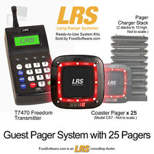 25 Guest Pager Restaurant Paging System Kit by LRS Long Range Systems
