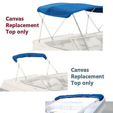 "BIMINI TOP BOAT COVER CANVAS FABRIC BLUE W/BOOT FITS 4 BOW 96""L 54""H 73""-78""W"