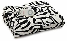 Sunbeam ZEBRA Imperial Plush ULTRA SOFT Heated Throw Blanket Electric Animal