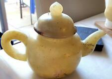 JADE - IN THE FORM OF A TEAPOT -VERY RARE HEAVY ITEM-GREAT ADD TO ANY COLLECTION
