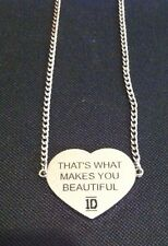 One Direction 1D LYRIC NECKLACE THAT'S WHAT MAKES YOU BEAUTIFUL 1D